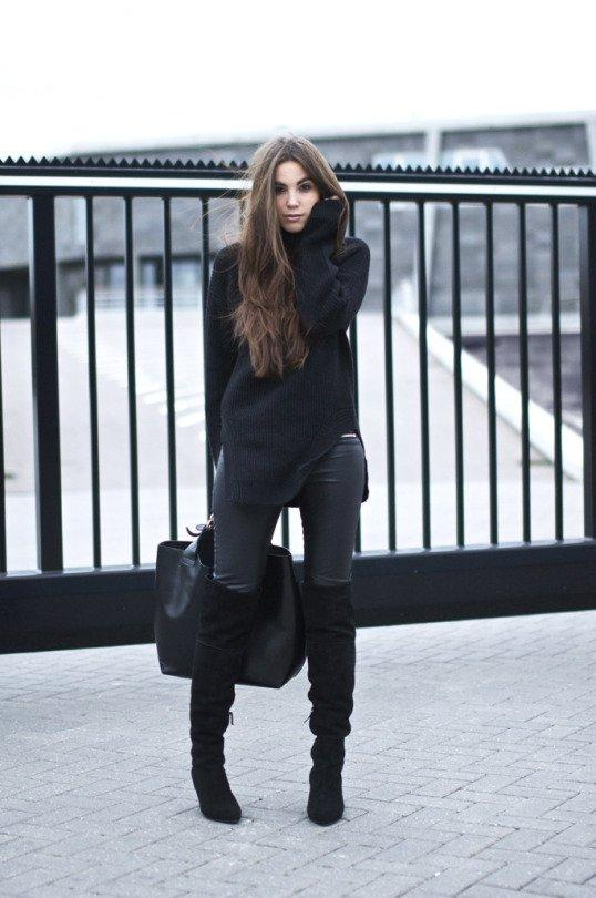 4-siyah-triko-ve-deri-pantolon-kombini