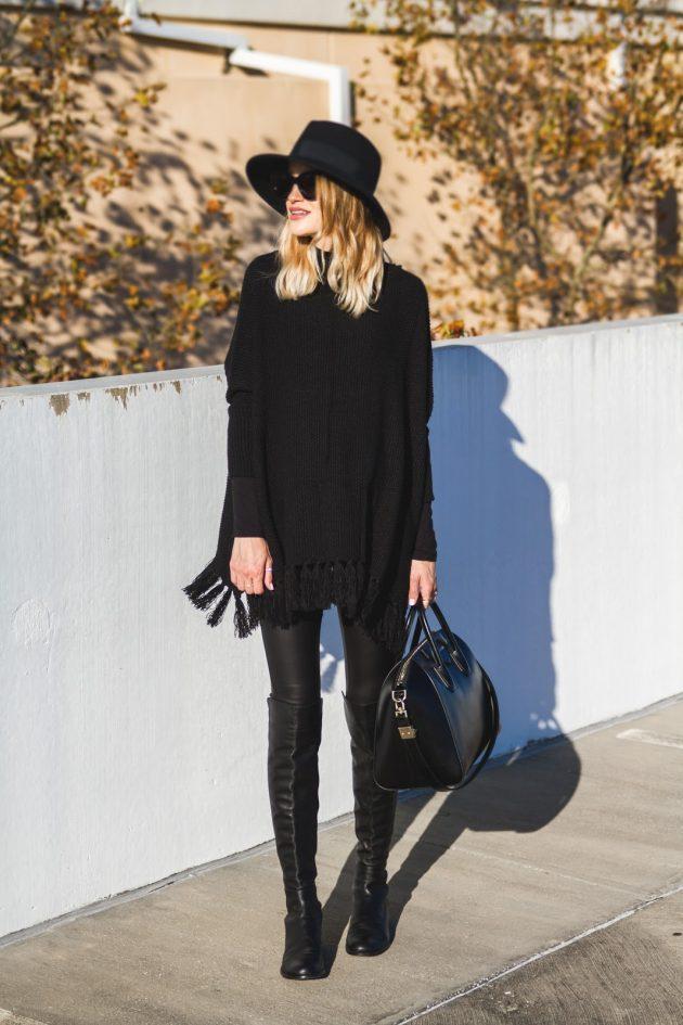 8-siyah-bol-elbise-kombini