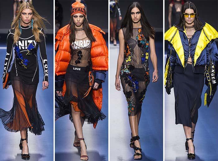 Versace Milano moda haftası defilesi 2017