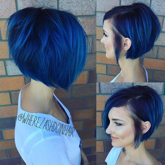 Denim Mavi Saç Rengi 2019 2020 Kombin Kadın