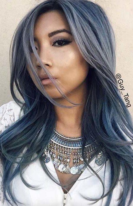 mat görünüm denim mavi saç rengi