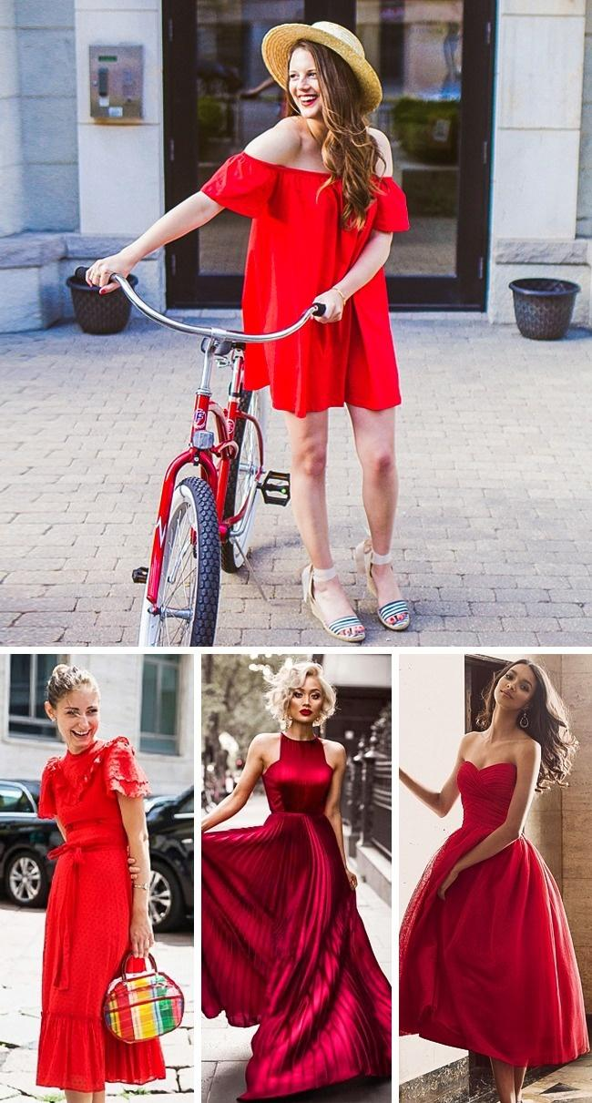 Kırmızı bir elbise önerisi