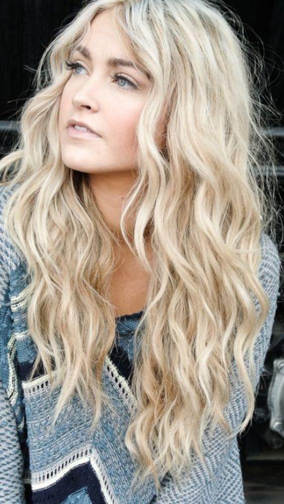 gümüş sarısı saç ve dalgalı model