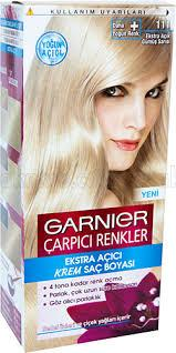 garnierdan gümüş sarısı saç boyası