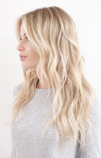 hacimli gümüş sarısı saç stili