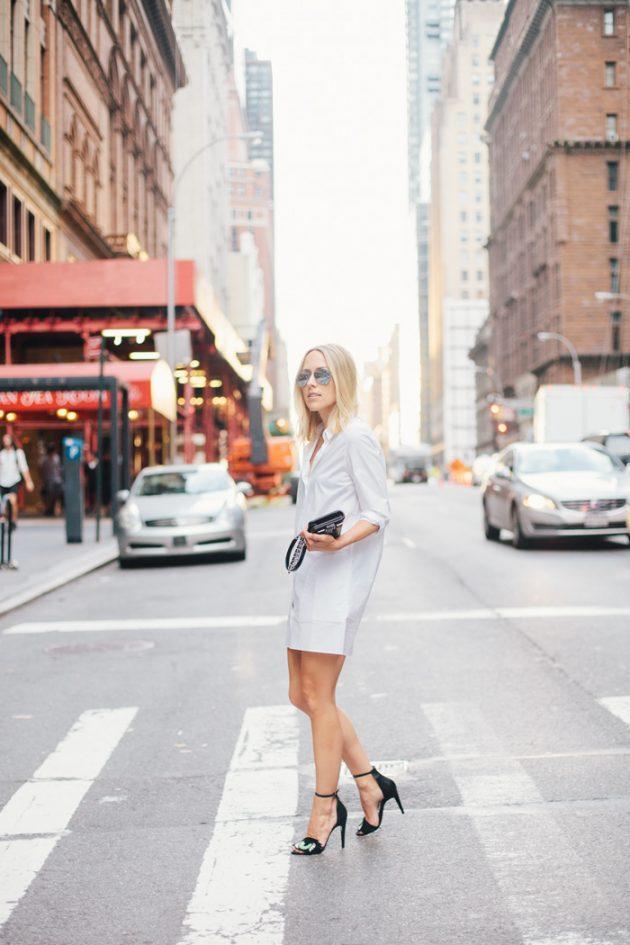 moda beyaz gömlek elbiseler 2017