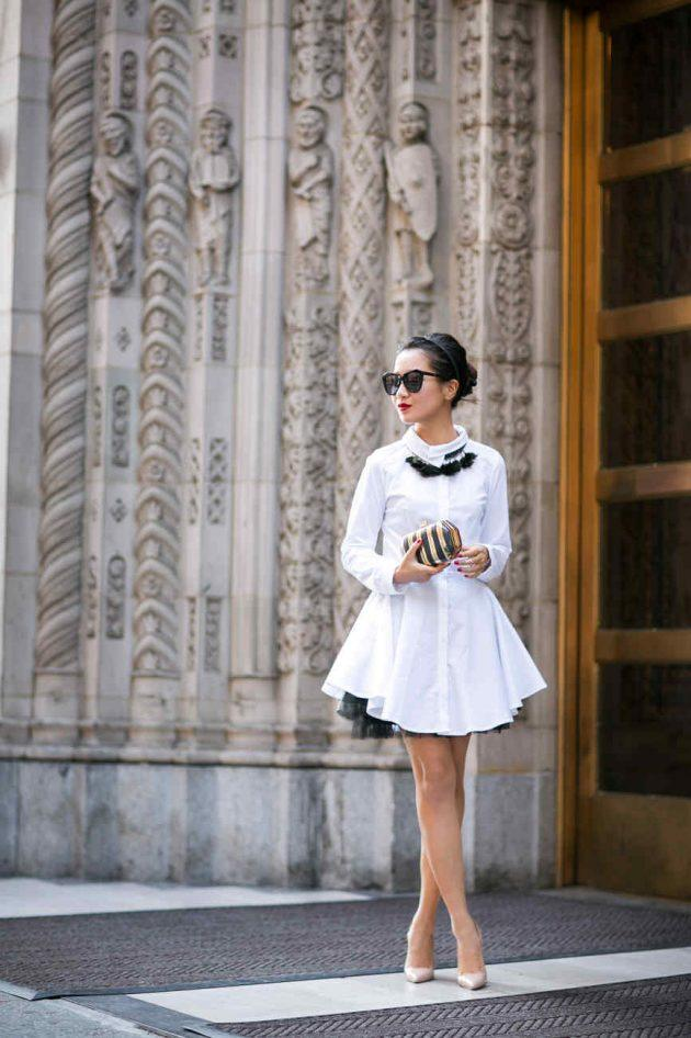 yaz beyaz gömlek elbiseler