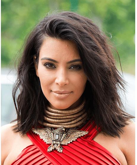 Kim Kardashian shag saç stili