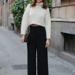 bayanlar için pantolon kazak stili