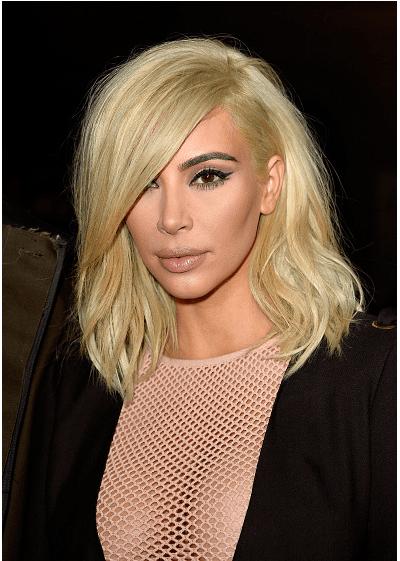 Kim Kardashian sarı saç rengi