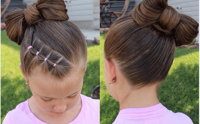 Kız Çocukları İçin Tatlı ve Pratik Saç Modelleri