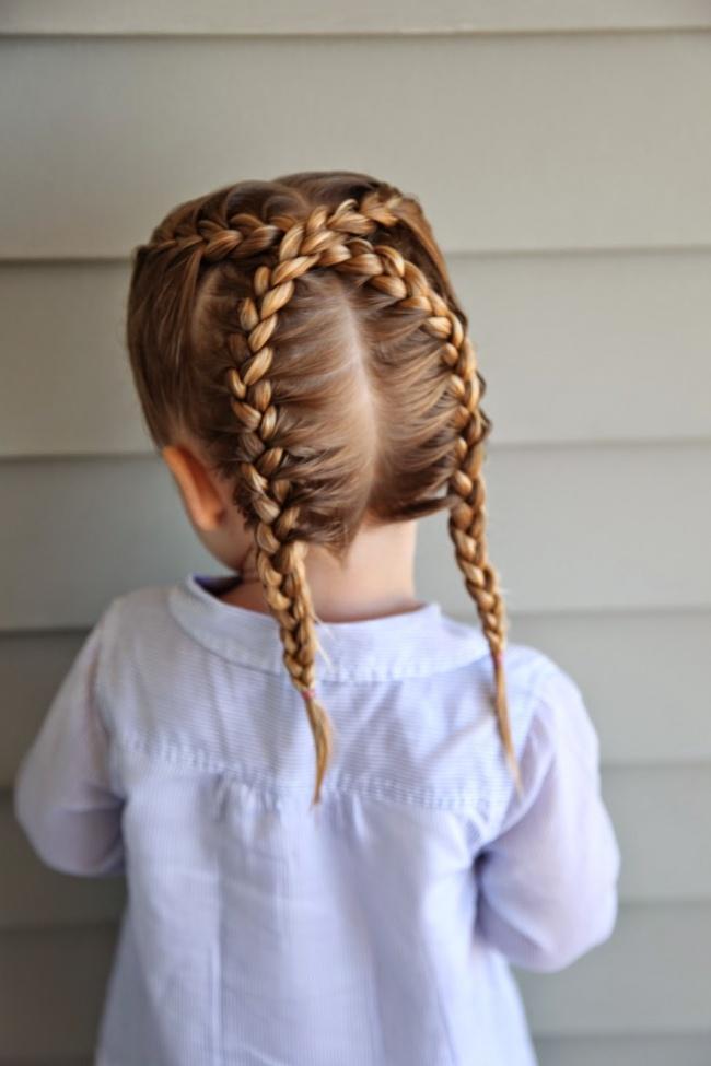 küçük kız çocukları için basit saç modeli