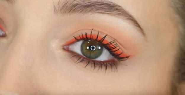 yeşil göz için makyaj