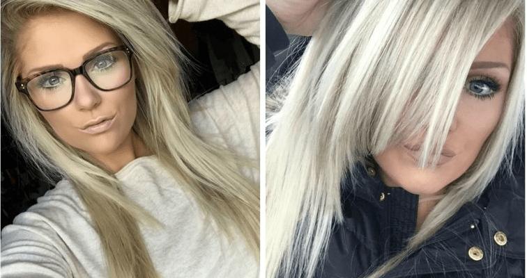 Açık Küllü Sarı Saç Rengi Ve Ayrıntıları Kombin Kadın