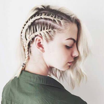 kısa saçlı kadınlar için örgülü saçlar