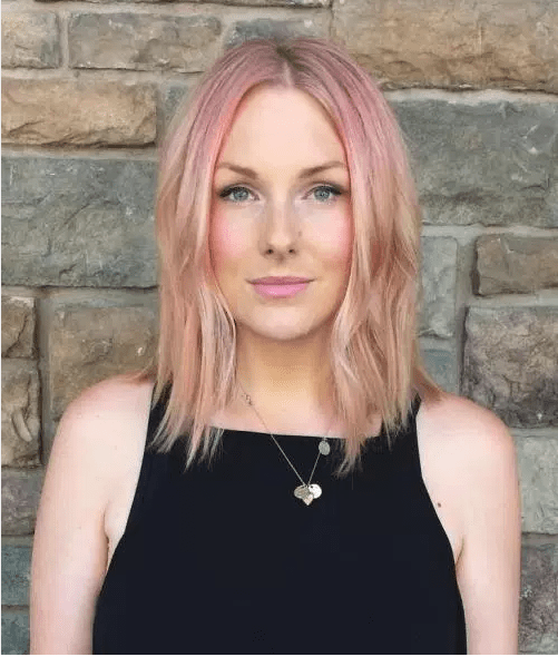 pembe saç rengi
