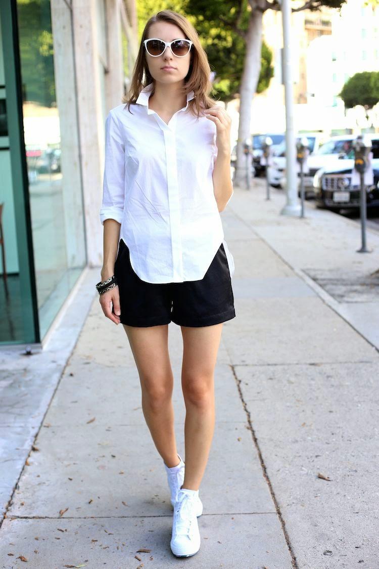 Beyaz Gömlek Elbise Modelleri ve Kombinler 2018