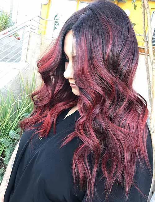 Kızıl Ombre Ile Baştan çıkarıcı Saç Rengine Kavuşabilirsiniz