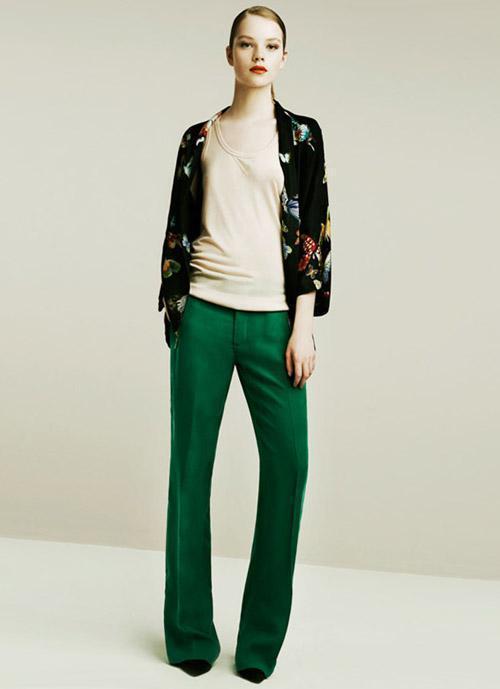 yeşil pantolon kombinleri
