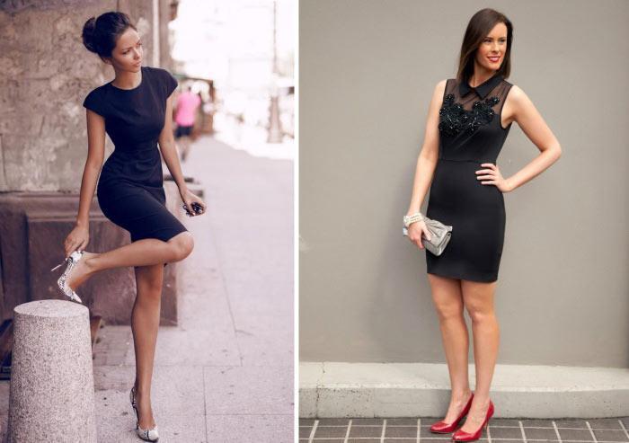 Siyah Elbise Kombinleri Ile Gözler üzerinizde Olacak Kombin Kadın