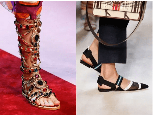 2018 İlkbaharyaz bayan ayakkabı trendleri kombin kadın