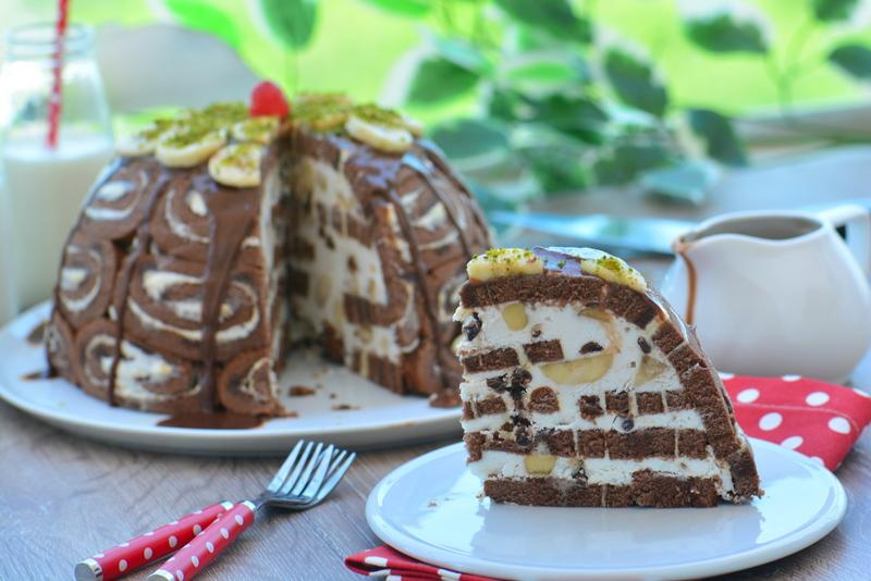 kubbeli muzlu pasta