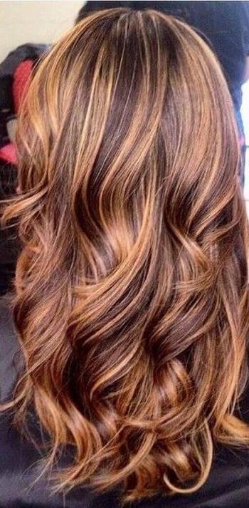 Karamel çikolata Kahve Saç Rengi Kombin Kadın