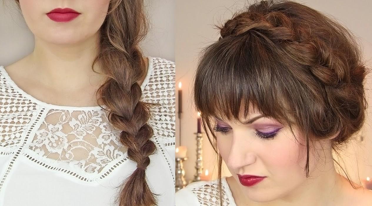 10 Güzel Çiçekli Saç aksesuarı ile saç modeli 2019
