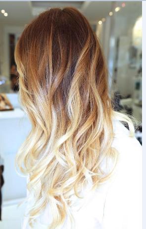 Sarı Ombre Saç Renkleri Kombin Kadın