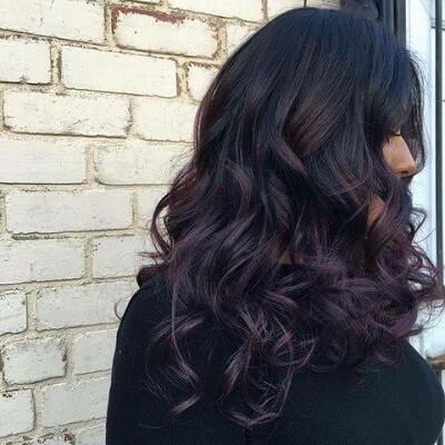 Siyah Saça Ombre Ve Balyaj Uygulaması Hakkında Ayrıntılar Kombin
