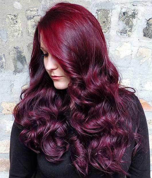 Koyu Kızıl Saç Rengisaç Modeli Ve Saç Boya Numarası Kombin Kadın