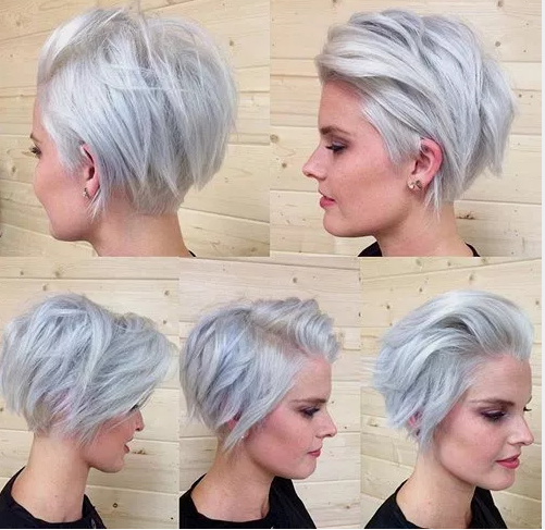 Gelmiş Geçmiş En Iyi Kısa Saç Modelleri Kombin Kadın