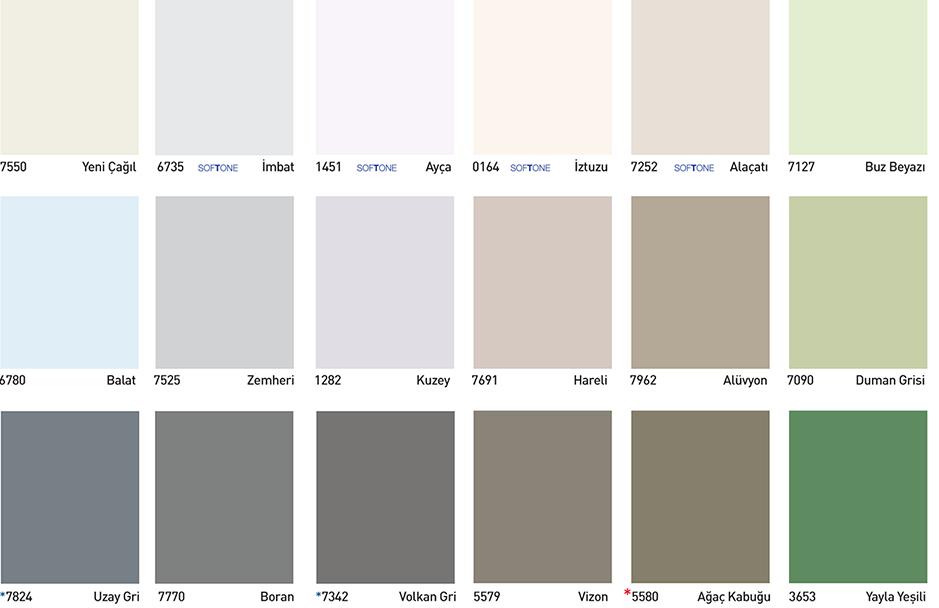 Dyo Iç Ve Dış Cephe Renk Kartelası 2019 2020 Kombin Kadın